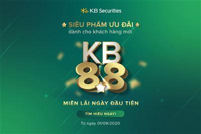 Ra mắt siêu phẩm ưu đãi KB 8.8 và giảm lãi suất dịch vụ tài chính tiêu chuẩn –  Động thái mạnh của KBSV để hỗ trợ nhà đầu tư trong mùa dịch