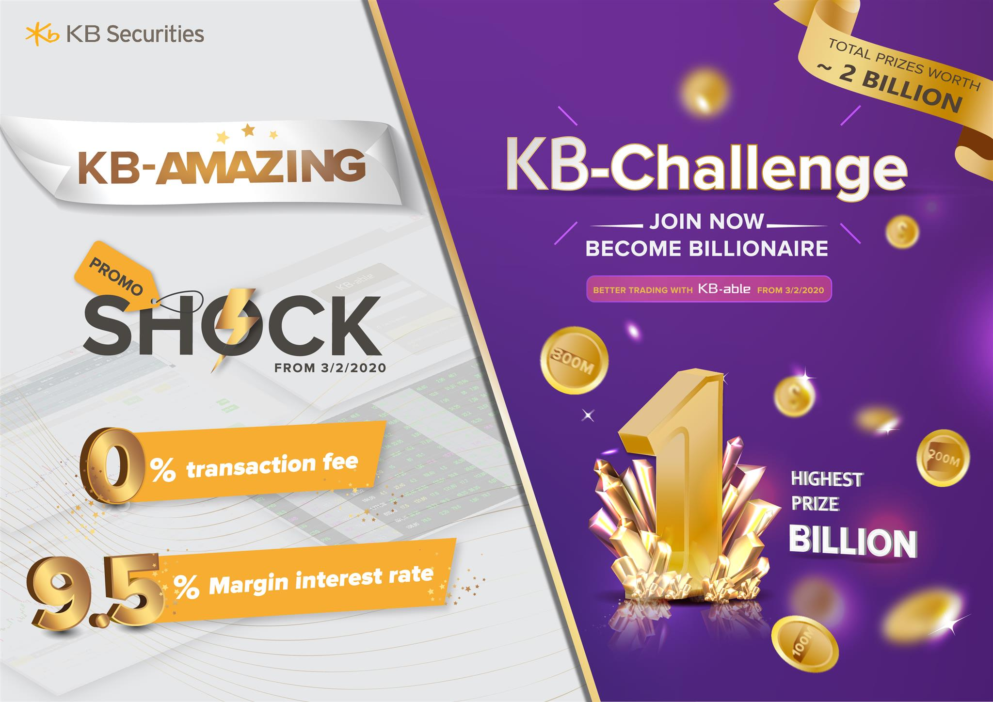 KBSV launched KB-Amazing promotion and KB-Challenge contest