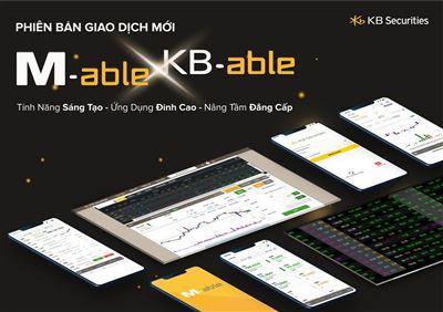 KBSV tiếp tục ra mắt ứng dụng giao dịch trên điện thoại M-able