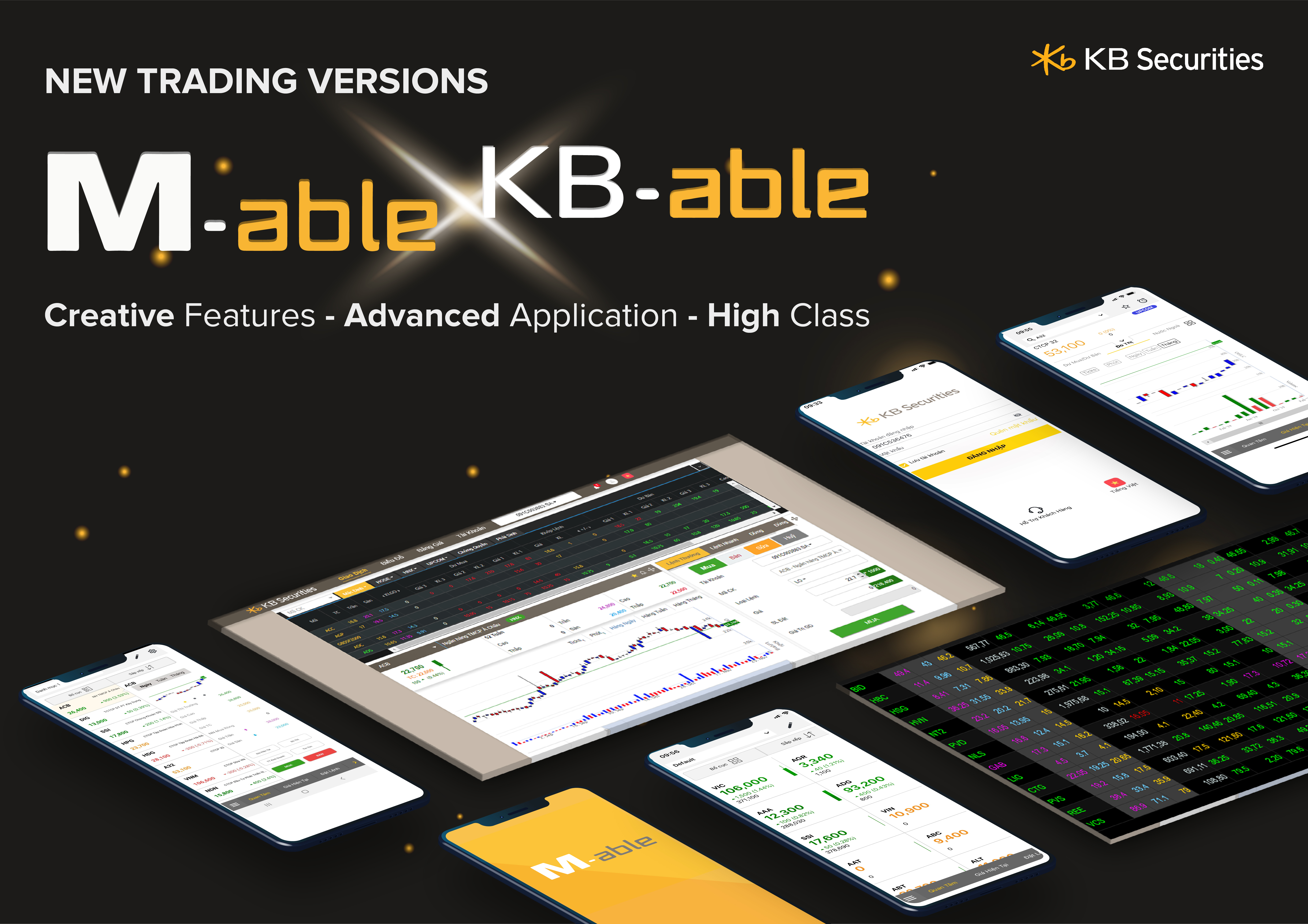 KBSV continued to launch mobile trading application M-able