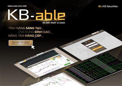 """KBSV ra mắt phiên bản giao dịch """"không giới hạn"""" KB-able"""