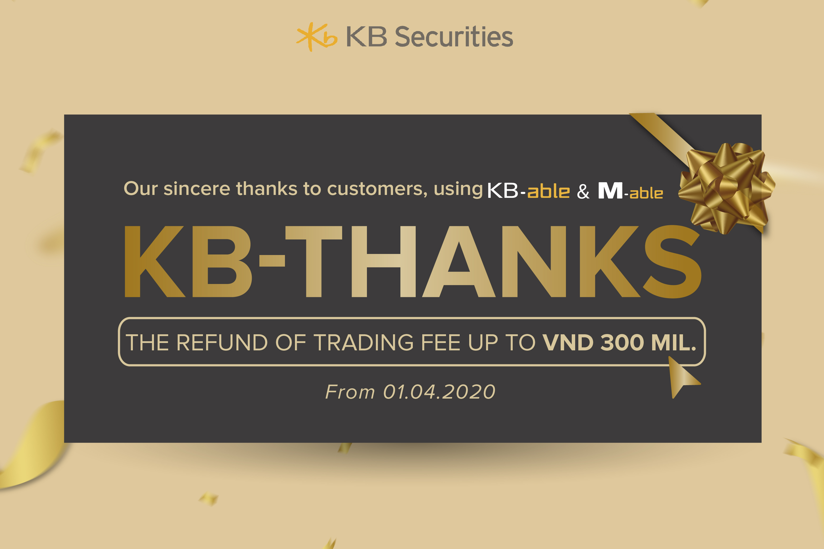 KBSV supports investors with attractive promotions KB-Joy & KB-Thanks