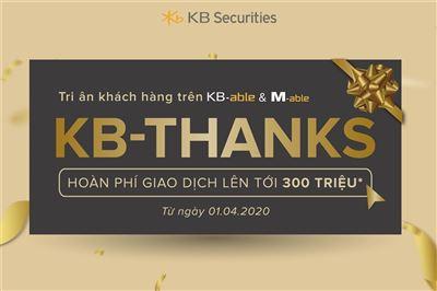 KBSV tiếp sức nhà đầu tư với loạt chương trình khuyến mại hấp dẫn KB-Joy & KB-Thanks