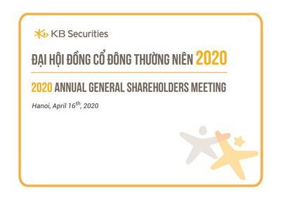 KBSV tổ chức Đại hội Cổ đông thường niên 2020