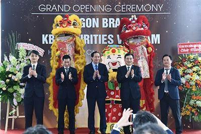 Chứng khoán KB Việt Nam khai trương chi nhánh Sài Gòn - Thời báo Tài chính