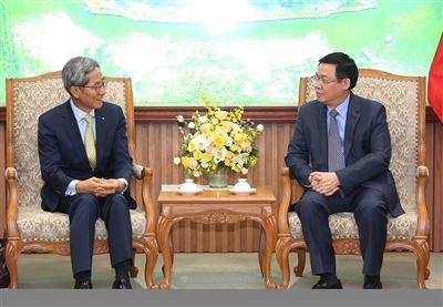 Phó Thủ tướng Vương Đình Huệ tiếp Chủ tịch Tập đoàn Tài chính KB - Báo Chính phủ