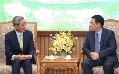 Phó Thủ tướng Vương Đình Huệ tiếp lãnh đạo Tập đoàn Tài chính Kookmin Hàn Quốc - VOV5