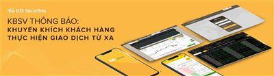KBSV khuyến khích khách hàng thực hiện giao dịch từ xa