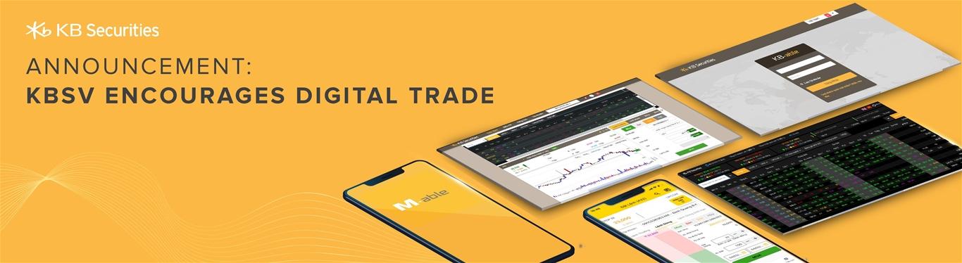 KBSV encourages digital trade