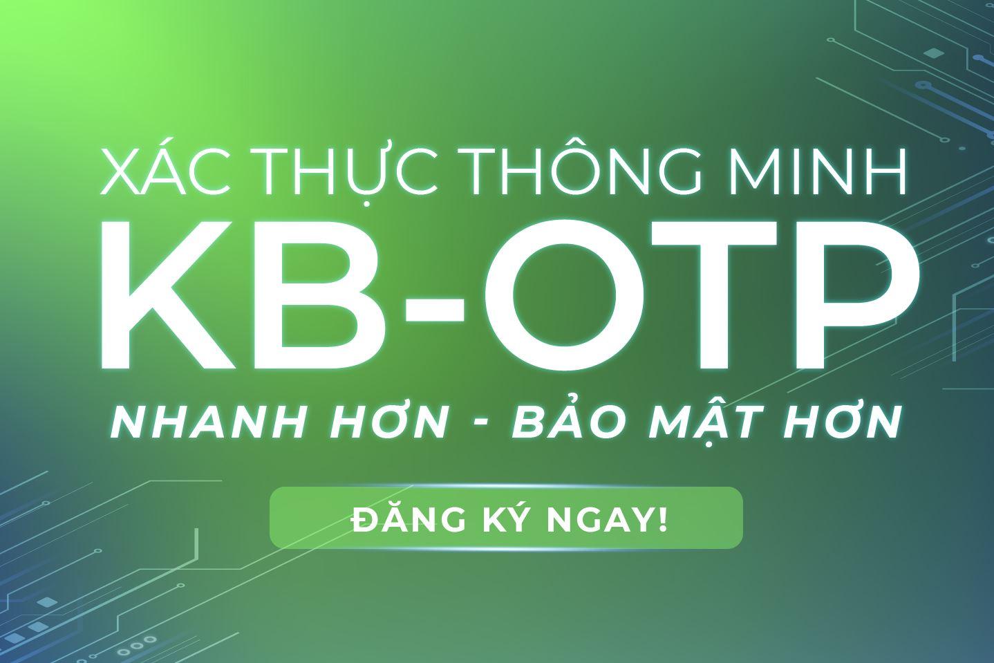 Phương thức xác thực KB-OTP