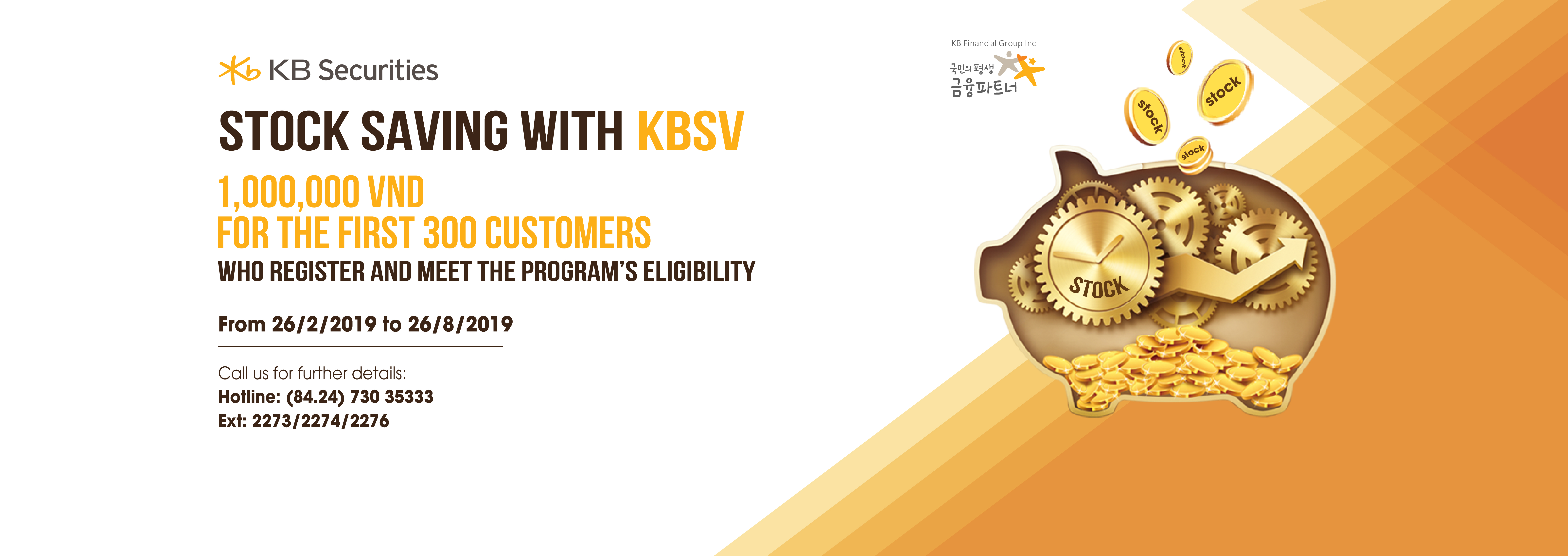Stock Saving with KBSV