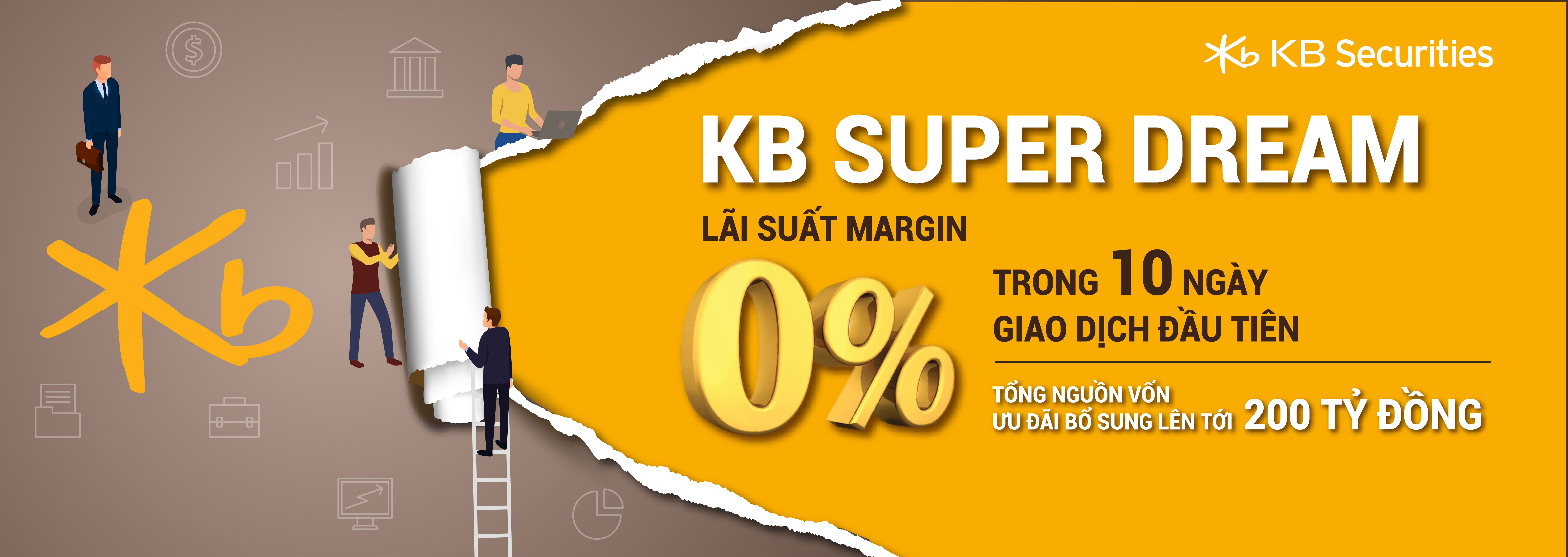 KBSV ưu đãi 0% lãi suất margin